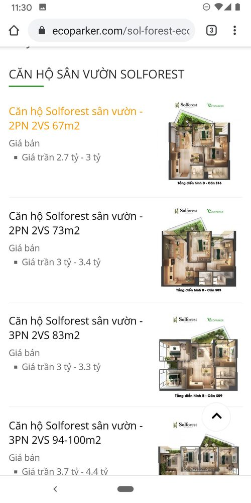 Solforest list of apartments too long