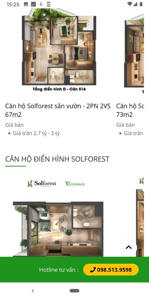 Solforest list of apartments in carousels