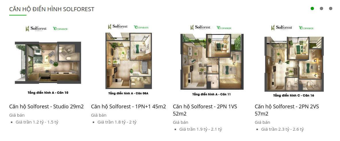 Solforest list of apartments in desktops