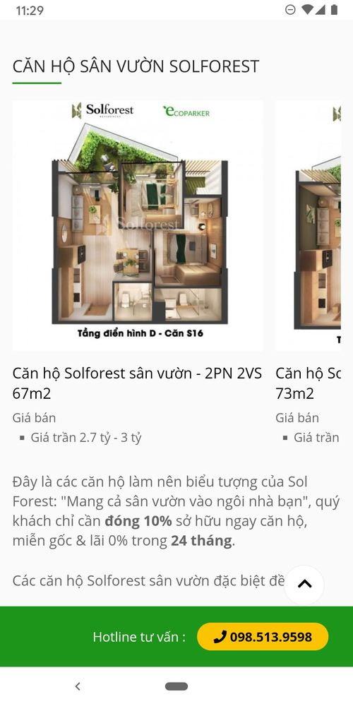 Solforest list of apartments in mobiles